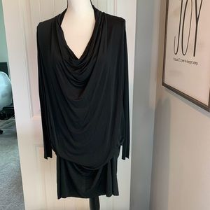 All Saints Amei draped shift dress long sleeve XS